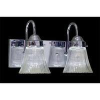 "Volume Lighting V1512 Marti 2 Light 12"" Width Bathroom Vanity Light with Clear R"