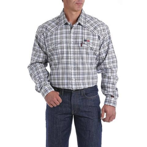 Cinch Work Shirt Men Long Sleeve Flame Resistant Geo Print