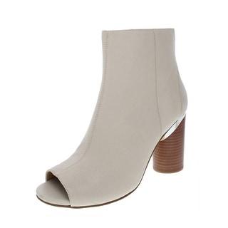 DKNY Womens Benson Booties Leather Peep Toe