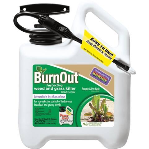 Bonide 7495 BurnOut All Natural Weed & Grass Killer w/Sprayer, RTU, 1.33 Gal