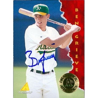 Signed Grieve Ben Oakland Athletics 1995 Pinnacle Baseball Card autographed