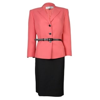 Tahari Women's Japan Joy Belted Skirt Suit - 18