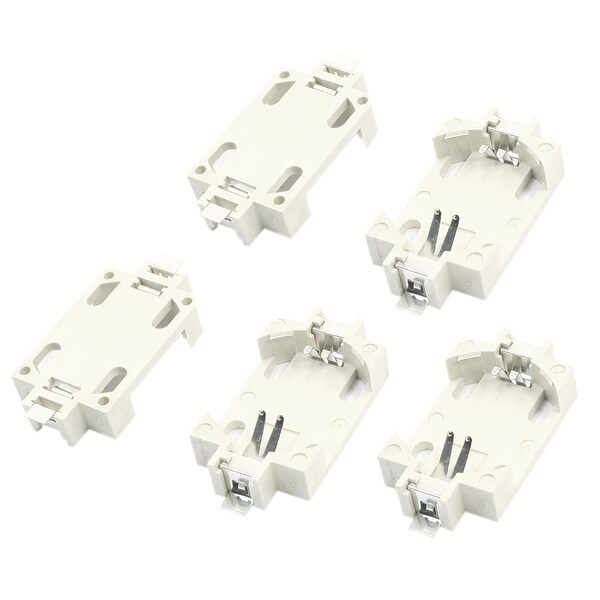 Unique Bargains 5 x White SMD SMT Lithium Coin Cell Button Battery Holder Case for CR2032