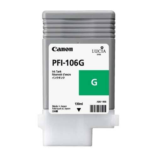 """Canon PFI-106G Ink Cartridge - Green Pigment Ink Cartridge 130ml"""