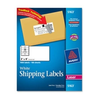 Consumer Products Laser Labels- Mailing- Permanent- 2in.x4in.- White