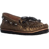 Coach Roccasin Studded Moccasins, Gold