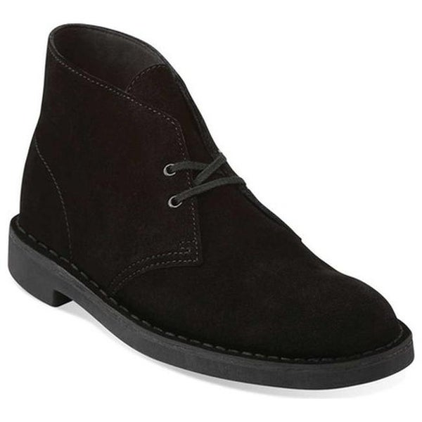 6537984fea5 Shop Clarks Men's Bushacre 2 Boot Black Suede - Free Shipping Today ...