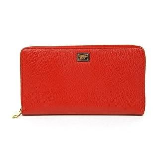 DOLCE & GABBANA Ladies Red Leather Wallet - 4x8x1.5