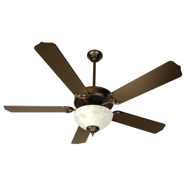 "Craftmade K10433 Pro Builder 201 52"" 5 Blade Ceiling Fan - Blades and Light Kit Included - Oiled Bronze"