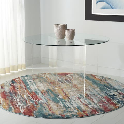"""Safavieh Couture Russell Acrylic Round Dining Table - Clear - 48"""" W x 48"""" L x 29.5"""" H"""