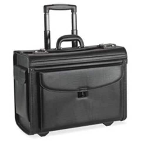 Lorell LLR61612 Rolling Laptop Catalog Case 18 in. x 9 in. x 14 in. Black