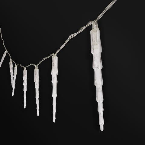 "Set of 3 LED Icicle Christmas String Lights 42in - 42"" L x 4.5"" W x 1"" DP"