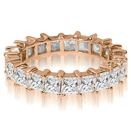 2.50 cttw. 14K Rose Gold Princess Shared-Prong Diamond Eternity Ring,HI,SI1-2