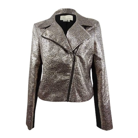 Sachin & Babi Women's Metallic Moto Jacket (M, Metallic) - M