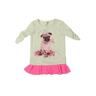 Lily Bleu Fill Your Heart with Happiness Sweatshirt Floral Print Metallic