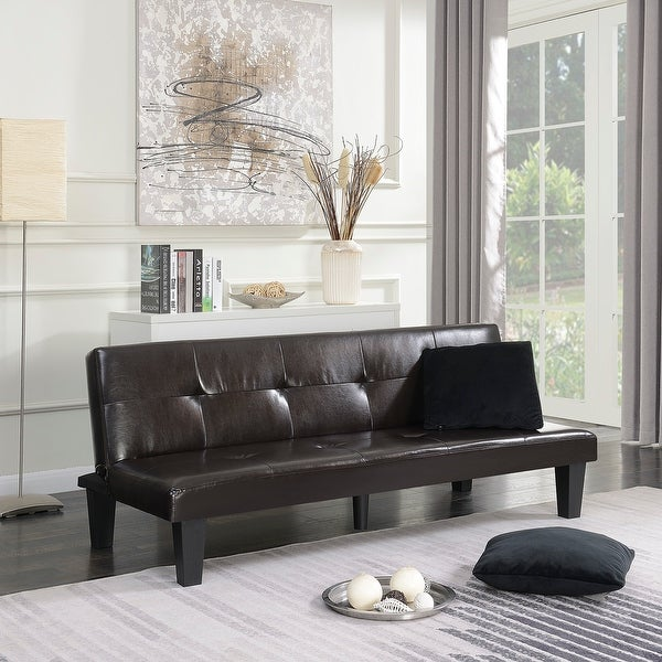 Shop Belleze Convertible Sofa Faux Leather Futon Bed