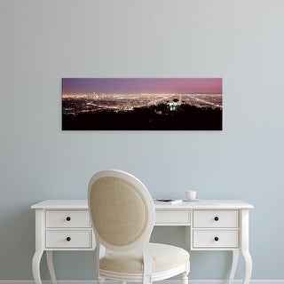 Easy Art Prints Panoramic Images's 'Aerial A cityscape, Griffith Park Observatory, Los Angeles, California' Canvas Art