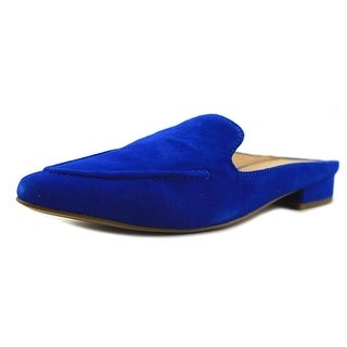 Franco Sarto Sela Women Pointed Toe Suede Blue Mules
