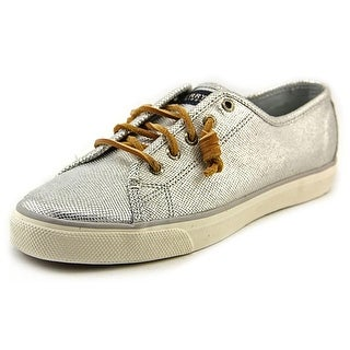 Sperry Top Sider Seacoast Women Leather Silver Fashion Sneakers