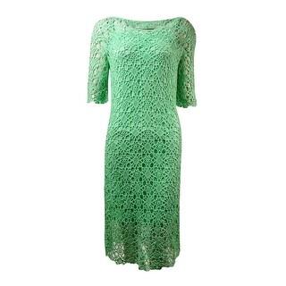 Lauren Ralph Lauren Women's Crochet Cotton Lace Dress