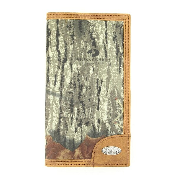 Nocona Western Wallet Mens Checkbook Mossy Oak Camo Brown - One size