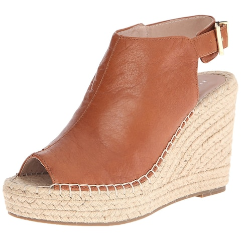 c7824c643e94 Kenneth Cole New York Womens Olivia Leather Peep Toe Casual Espadrille  Sandals