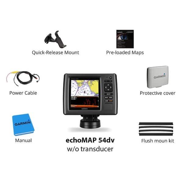 Shop Garmin echoMAP 54dv w/o Transducer Garmin echoMAP 54dv