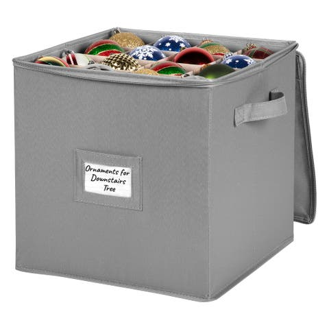 Christmas Ornament Storage Container  Heavy Duty 600D Canvas