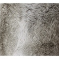 "G Home Collection Luxury Gradient Gray Faux Fur Pillow 22""X22"" - Thumbnail 3"