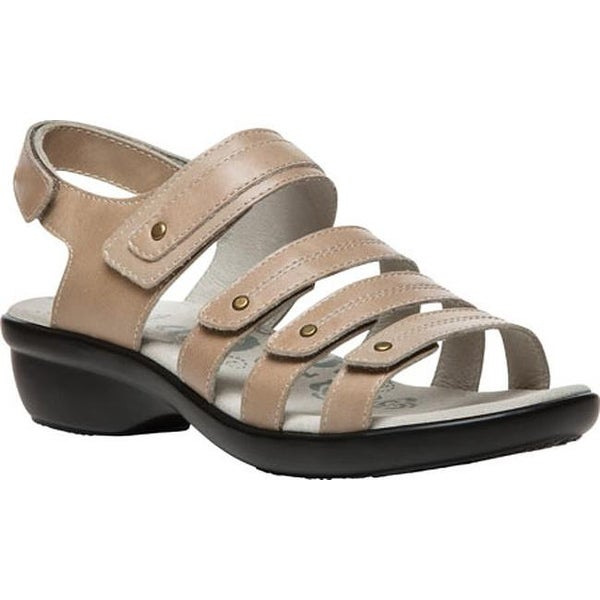 815a5fafcfc5 Propet Women  x27 s Aurora Strappy Slingback Sandal Oyster Full Grain  Leather