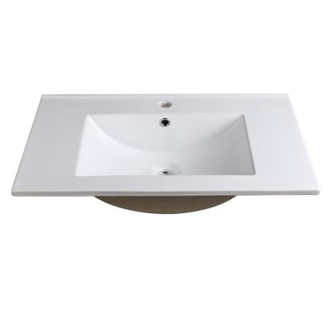 """Fresca Allier 30"""" White Integrated Sink / Countertop"""