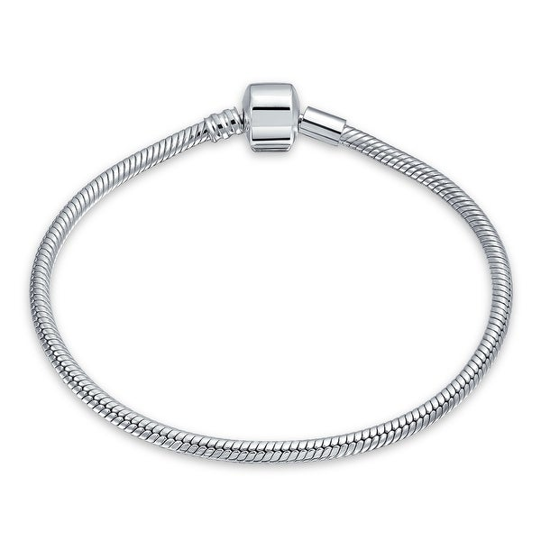 f7a1bfe28 Snake Chain Starter Charm Fits European Beads Bracelet For Women Teens  Strong 925 Sterling Silver Barrel
