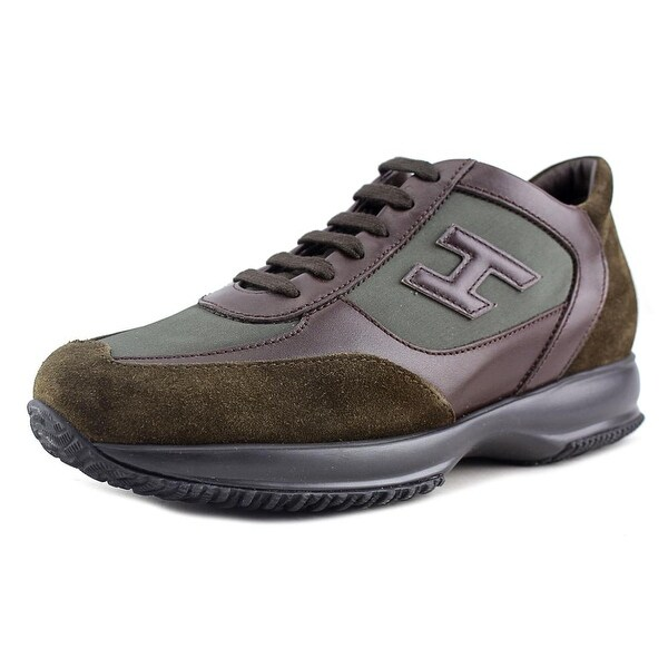 Hogan New Interactive H Canaletto Nuova Round Toe Leather Sneakers