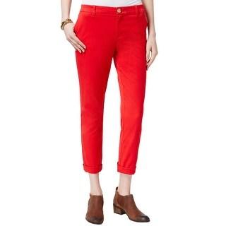 Tommy Hilfiger Ladies Hampton Stretch Slim Chino Pants 10 Bright Red