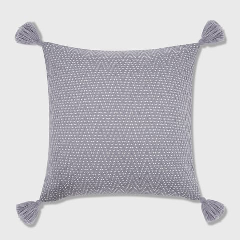 Herringbone Tassel Throw Pillow