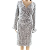 Lauren by Ralph Lauren Black Women's Size 16 Tweed Sheath Dress