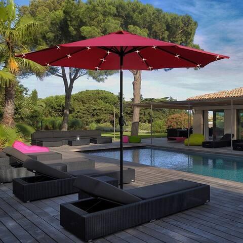 Maypex 9 Feet Solar Led Lighted Patio Umbrella
