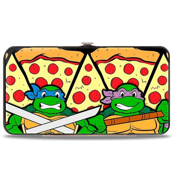 Turtle Battle Poses Pizza Hinged Wallet - One Size Fits most