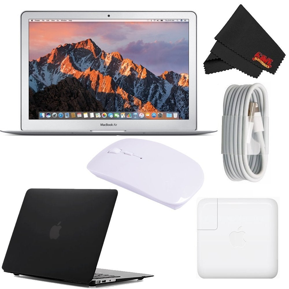Apple 13.3 MacBook Air Newest Version Starter Bundle 256 GB - Black