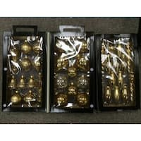 36-Piece Gold Collection Asymmetrical Christmas Ornament Set