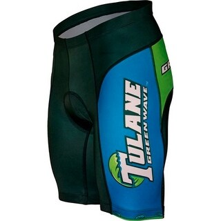 Adrenaline Promotions Men's Tulane University Cycling Shorts - Green/Blue