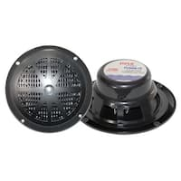"Pyle 6.5"" black waterproof marine speaker"