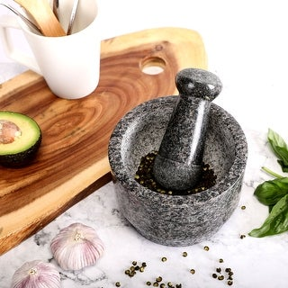 CO-Z 5.5 Inches 13.5 Oz Double-Sided Solid Pestle Mortar Stone Grinder