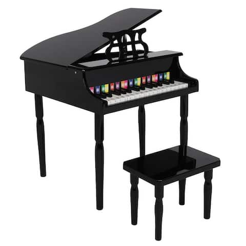 30-key Children's Wooden Piano / Four Feet / with Music Stand Mechanical Sound Quality