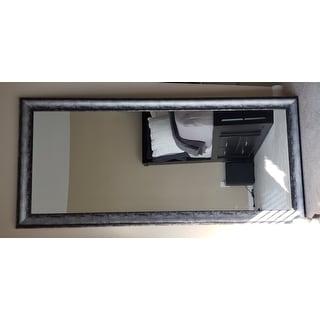 Multi Size BrandtWorks Midnight Silver Large Floor Mirror - Black/Silver