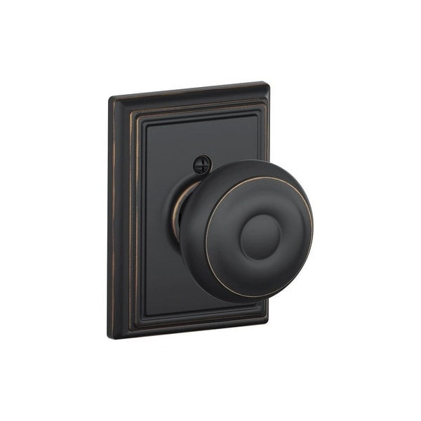 Shop Schlage F170 Geo Add Single Dummy Georgian Door Knob