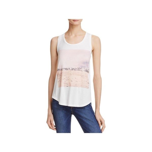 French Connection Womens Kawame Tank Top Jersey Printed