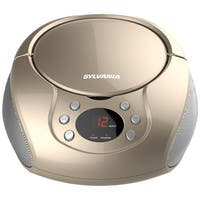 Sylvania  Portable CD Players with AM & FM Radio - Champagne