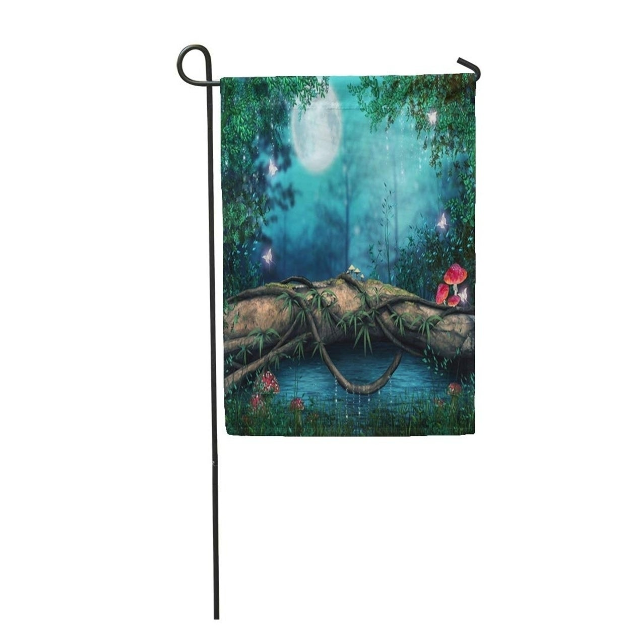 Forest Tree Log By An Enchanted Pond Fantasy Fairytale Magic Garden Flag Decorative Flag House Banner 28x40 Inch On Sale Overstock 31367657