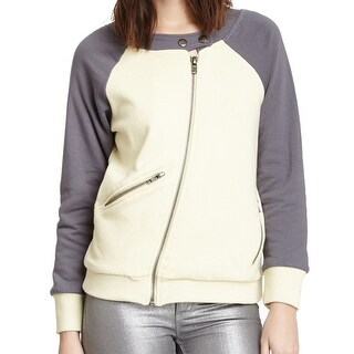 Chaser NEW White Ivory Women's Size Medium M Fleece Moto Jacket